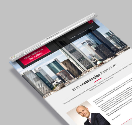 Homepage Henry Robinson Consulting - Webdesign